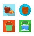 design of bucket and water sign set of vector image