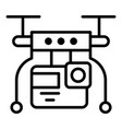 drone video live icon outline style vector image