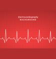 ecg heartbeat monitor cardiogram heart pulse line vector image vector image