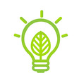 Eco Lamp Symbol vector image