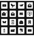 Email icons set simple style vector image vector image