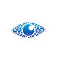 eye vision logo vector image vector image