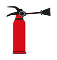 fire extinguisher flames vector image vector image