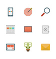 Flat design icons symbols for website vector image