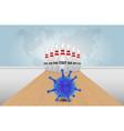 global coronavirus pandemic poster banner vector image vector image