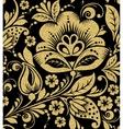 Gold glittering Khokhloma seamless pattern vector image vector image