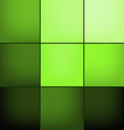 Green squares abstract background vector image vector image