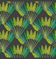 green tropical palm leaves and branches botanical vector image vector image