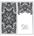 grey decorative label card for vintage design vector image