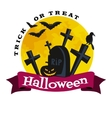 Happy Halloween Badge and Label vector image
