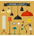Home light icons set vector image vector image
