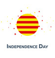 independence day of catalonia patriotic banner vector image vector image