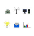 isolated business flat icon vector image