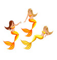 isometry fairy characters on a dark background be vector image vector image