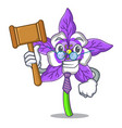 Judge columbine flower mascot cartoon