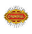 logo for carnival vector image