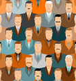 Man seamless pattern People vintage colors Office vector image