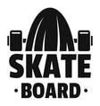 modern skateboard logo simple style vector image vector image