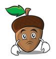 moody acorn cartoon character style vector image vector image