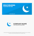 moon night star night solid icon website banner vector image vector image