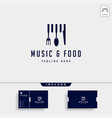 music food simple flat logo design icon element vector image vector image