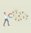 new idea business success money earning concept vector image