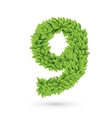 Number of green leaves with shadow vector | Price: 1 Credit (USD $1)