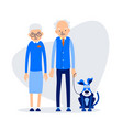 old couple with dog woman stands next to man vector image