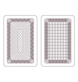 Ornament for playing cards vector image vector image