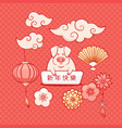 pig symbol of chinese new year 2019 vector image