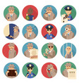private detective icons set vector image vector image