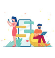 relationship flat design vector image