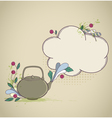 retro hand drawn teapot and place for text vector image vector image