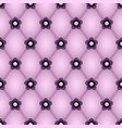 rhombus pattern purple flowers and jewelry pearls vector image