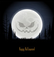 scary face on moon vector image vector image