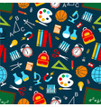 school science seamless pattern vector image