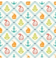 seamless pattern anchor sailboat shape vector image vector image