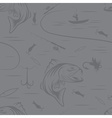Seamless pattern on the subject of fishing With vector image vector image