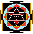 shiva yantra vector image vector image