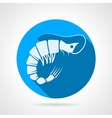 Shrimp flat round icon vector image