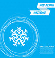 snowflake icon on a blue background with abstract vector image