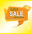 super sale arrow banner big sale clearance 50 vector image