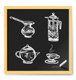 Tea and coffee vector image vector image