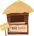 Tiki Shack Welcome vector image vector image