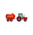 tractor with fertilizer barrel icon vector image vector image