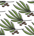 tunis symbol yucca plant and seeds seamless vector image vector image