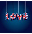united kingdom love vector image vector image