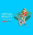 virtual augmented reality vector image vector image