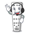 with headphone cartoon remote control of air vector image