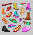 womens fashion shoes and boots set vector image vector image
